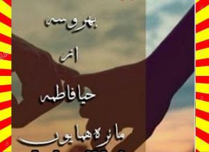 Bharosa Urdu Novel By Haya Fatima And Maira Hammayun 1